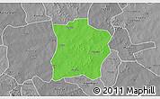Political 3D Map of Tougouri, desaturated