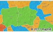 Political 3D Map of Tougouri