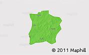 Political 3D Map of Tougouri, single color outside