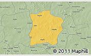Savanna Style 3D Map of Tougouri