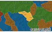 Political 3D Map of Zeguedeguin, darken