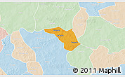Political 3D Map of Zeguedeguin, lighten