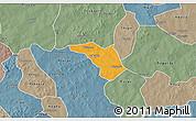 Political 3D Map of Zeguedeguin, semi-desaturated