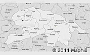 Silver Style 3D Map of Oubritenga
