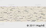 Shaded Relief Panoramic Map of Bousse