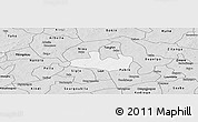 Silver Style Panoramic Map of Bousse