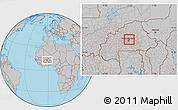 Gray Location Map of Loumbila