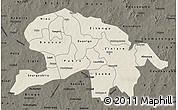 Shaded Relief Map of Oubritenga, darken
