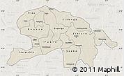 Shaded Relief Map of Oubritenga, lighten