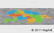 Political Panoramic Map of Oubritenga, desaturated