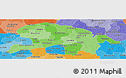 Political Shades Panoramic Map of Oubritenga