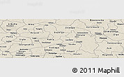 Shaded Relief Panoramic Map of Oubritenga
