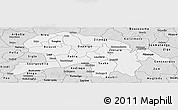 Silver Style Panoramic Map of Oubritenga