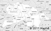 Silver Style Simple Map of Oubritenga