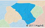 Political 3D Map of Deou, lighten