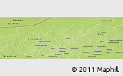 Physical Panoramic Map of Deou