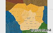 Political Shades Map of Oudalan, darken