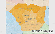 Political Shades Map of Oudalan, lighten