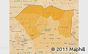 Political Shades Map of Oudalan, satellite outside