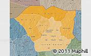 Political Shades Map of Oudalan, semi-desaturated
