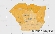 Political Shades Map of Oudalan, single color outside