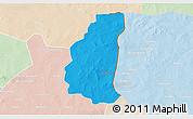 Political 3D Map of Markoye, lighten