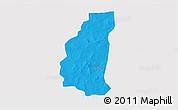 Political 3D Map of Markoye, single color outside