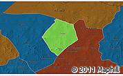 Political 3D Map of Oursi, darken