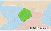 Political 3D Map of Oursi, lighten