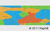 Political Panoramic Map of Oudalan