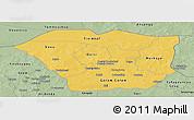 Savanna Style Panoramic Map of Oudalan