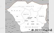 Gray Simple Map of Oudalan
