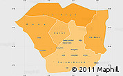 Political Shades Simple Map of Oudalan, single color outside