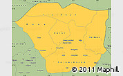 Savanna Style Simple Map of Oudalan