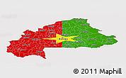 Flag Panoramic Map of Burkina Faso, flag rotated