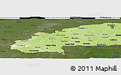Physical Panoramic Map of Burkina Faso, darken