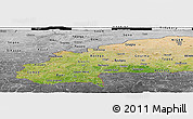 Satellite Panoramic Map of Burkina Faso, desaturated, land only