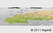 Satellite Panoramic Map of Burkina Faso, lighten, desaturated