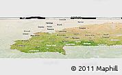 Satellite Panoramic Map of Burkina Faso, lighten