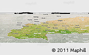 Satellite Panoramic Map of Burkina Faso, lighten, semi-desaturated, land only