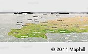 Satellite Panoramic Map of Burkina Faso, lighten, semi-desaturated