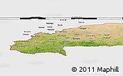 Satellite Panoramic Map of Burkina Faso, single color outside, bathymetry sea