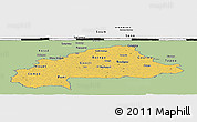 Savanna Style Panoramic Map of Burkina Faso, single color outside