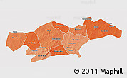 Political Shades 3D Map of Passore, cropped outside