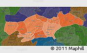 Political Shades 3D Map of Passore, darken