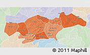 Political Shades 3D Map of Passore, lighten