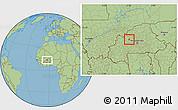 Savanna Style Location Map of Bagare