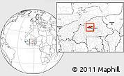 Blank Location Map of Passore