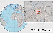 Gray Location Map of Passore