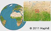Satellite Location Map of Passore